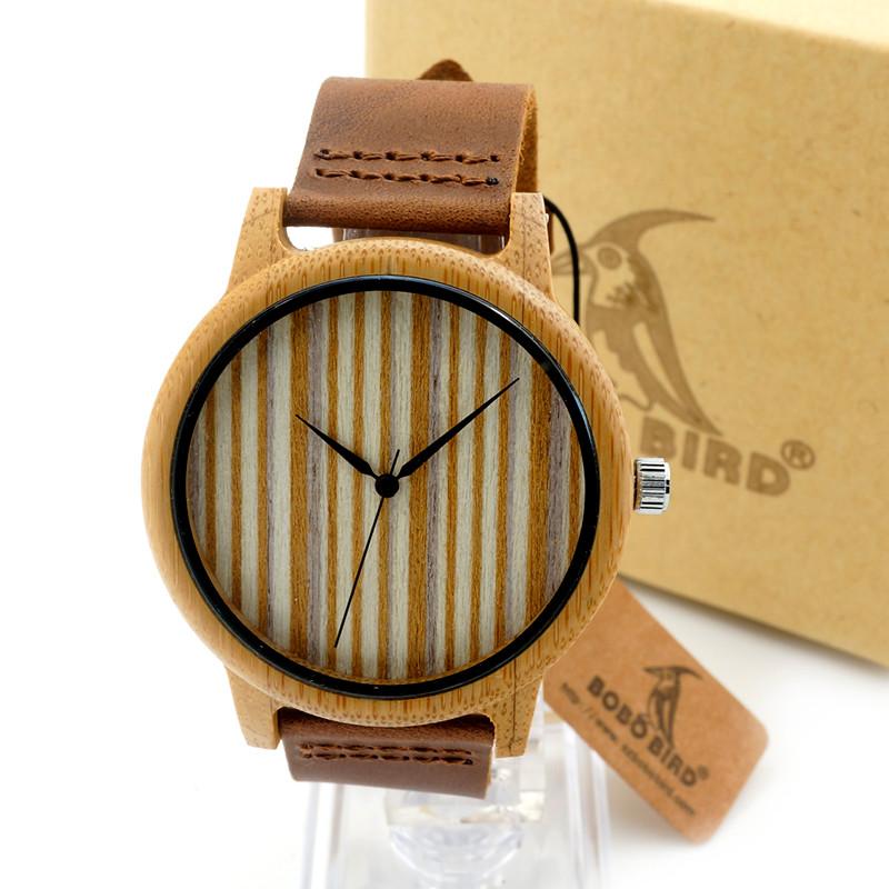 Dřevěné hodinky BOBO BIRD A19 01