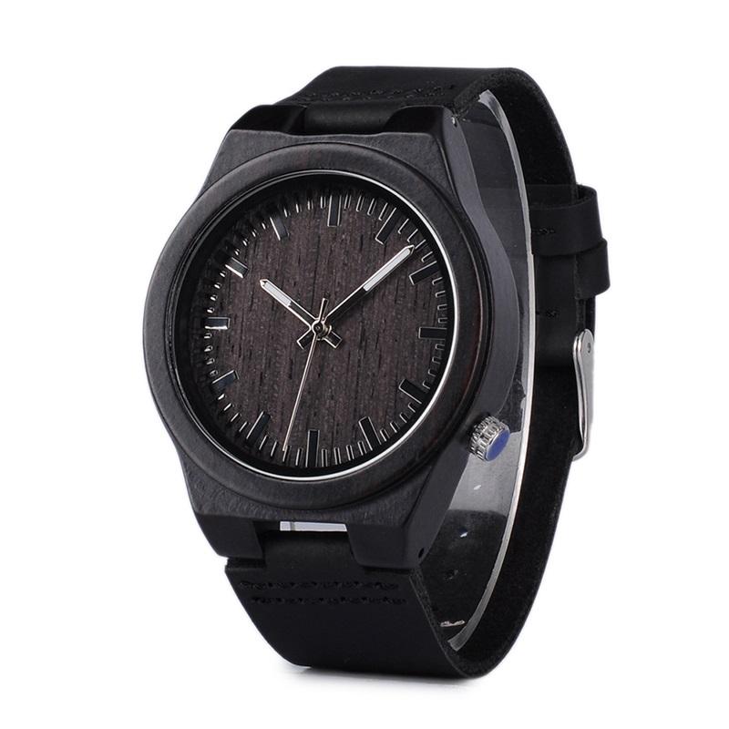 Dřevěné hodinky BOBO BIRD B12 – černé 01