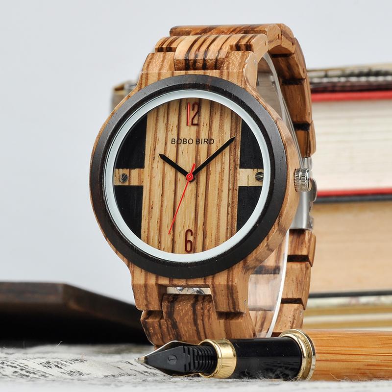 Drevene hodinky BOBO BIRD Q19-B 01