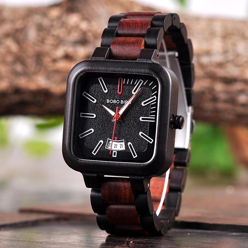 Drevene hodinky BOBO BIRD R09 01